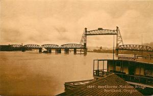 c1907 Mitchell Postcard 1457 Hawthorne-Madison Lift Bridge, Portland OR Unposted