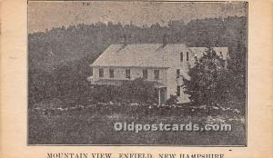 Mountain View Enfield, New Hampshire, NH, USA 1937