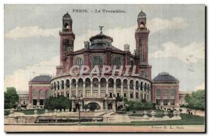 Paris Trocadero Old Postcard