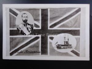 Royalty KING GEORGE V - RULE BRITANNIA  c1914 to 1918 - Series 481/6