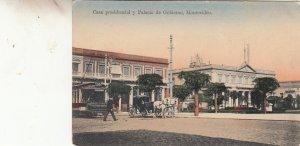 P1946 old postcard casa presidencial y palacio de gobierno montcvideo uruguay ?