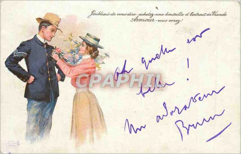 Old Postcard I forgot to tell you buy Armor Meat Extract bottle you will see ...