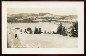 h2184 - VAL MORIN Quebec 1950s Panoramic View. Real Photo Postcard