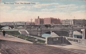 Iowa Des Moines River Front VIew Curteich