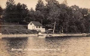 Brandon Vermont Boat House Real Photo Vintage Postcard JC932124