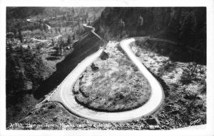 Columbia River Highway Oregon~Hair Pin Turn-Rowena Loops~1950s Real Photo Pc