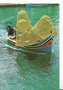 Malta Postcard - The Luzzu - Maltese Fishing Boat - Ref TZ5192