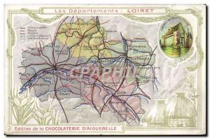Old Postcard geographical maps of Chocolaterie & # 39Aiguebelle Loiret Chatea...