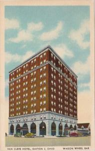 Ohio Dayton Van Cleve Hotel Wagon Wheel Bar