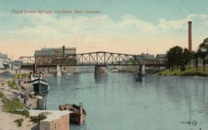 CHATHAM , Ontario , 1900-10s ; Third Street Bridge