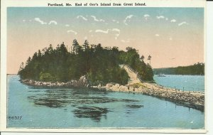 Portland, Me., End of Orr's Island from Great Island