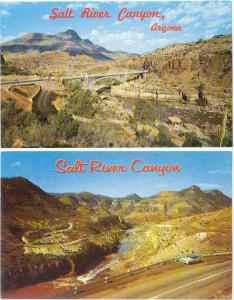 2 Card of Salt River Canyon Arizona, AZ, Chrome