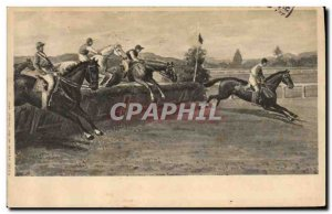 Old Postcard Equestrian Horse Riding