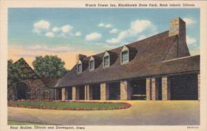Illinois Rock Island The Watch Tower Inn Blackhawk State Park Curteich