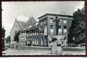 dc1367 - NETHERLANDS Wageningen 1950s Hotel de Wereld. Real Photo Postcard