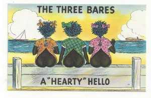 Black Americana, Three Bares, Hearty Hello, Kids showing bottoms, 1930-40s