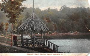 Churchill's Lake Stamford, New York Postcard