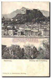 Postcard Old Salzburg Festung und Untersberg