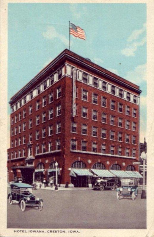 HOTEL IOWANA, CRESTON, IA. 192?