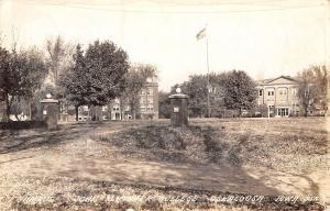 Oskaloosa Iowa~John Fletcher College Campus~Gates~1943 Real Photo Postcard~RPPC