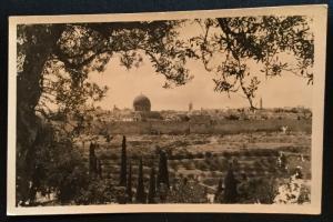 Picture Postcard Unused B/W General View of Jerusalem Israel LB
