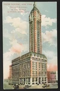 Singer Building New York Tallest Building in the World