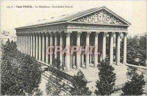 Old Postcard All Paris La Madeleine