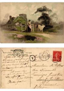 CPA Frohes Schaffen in freier Natur Meissner & Buch Litho Serie 1355 (730465)