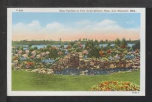 Rock Gardens,Hydro-Electric Plant,Iron Mountain,MI Postcard