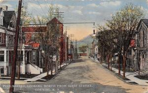 Corning New York~Pine Street Homes~Looking North From First Street~1910 Postcard