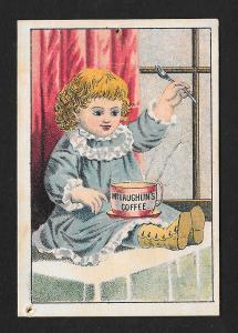 VICTORIAN TRADE CARD McLaughlin's Coffee Baby