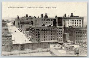 Omaha NE~Main Street Birdseye~Wholesale District NE~American Radiator Co~c1910