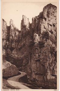 Post Card Somerset CHEDDAR Castle Rock