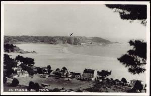 channel islands, JERSEY, St. Brelades Bay (1940s) RPPC