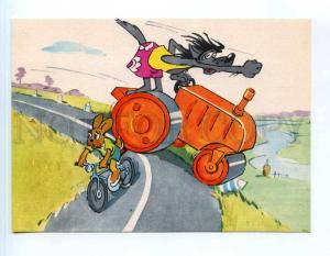 253543 USSR RUSAKOV Nu, pogodi! WOLF HARE bike paver