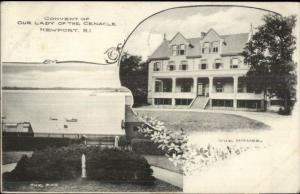 Newport RI Convent Our Lady of the Cenacle c1910 Postcard