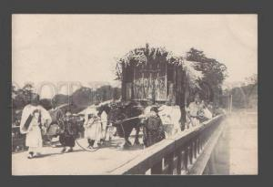 086131 JAPAN FESTIVAL in KYOTO view Vintage real photo PC#33