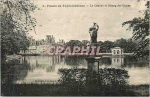 Postcard Old Palace of Fontainebleau Chateau Pond and the Carp