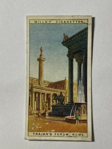 CIGARETTE CARD - WILLS PAST WONDERS #43 TRAJANS FORUM  ROME (UU462)