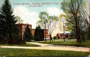 Michigan Lansing Women's Building Michigan Agricultural College 1909