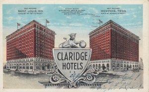 Claridge Hotels , Missouri & Tennessee , 1926