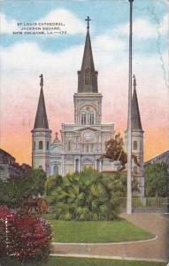 Louisiana New Orleans Saint Louis Cathedral Jackson Square 1948