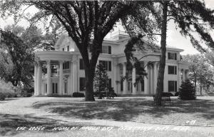 B19/ Nebraska City Ne Real Photo RPPC Postcard c40s The Lodge Home of Arbor Day