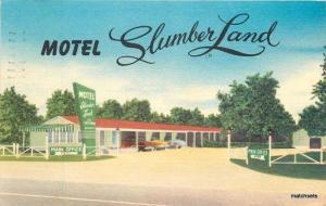1955 Motel Slumberland roadside Springfield Illinois MWM postcard 2061