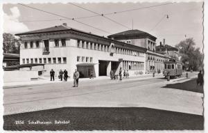 Switzerland; Schaffhausen Railway Station & Tram Car No 13 RP PPC Unposted
