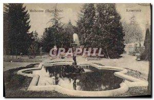 Old Postcard Mulhouse Haut Rhin Reservoir