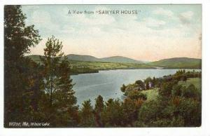 A View From  Sawyer House , Wilson Lake, Wilton, Maine, 1900-1910s