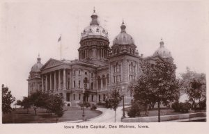 Iowa Des Moines State Capitol Building 1908 Real Photo