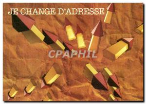Postcard Modern Post I change d & # 39adresse