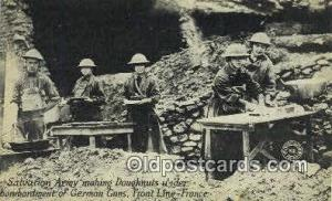 Salvation Army Making Doughnuts Front Line France, Red Cross Postcard Postcar...